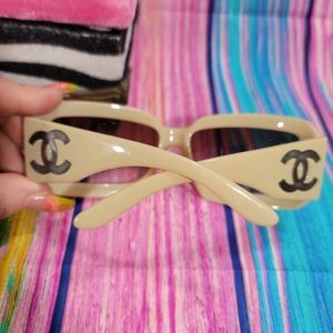 Authentic Chanel Sunglasses with Pearl Inlays